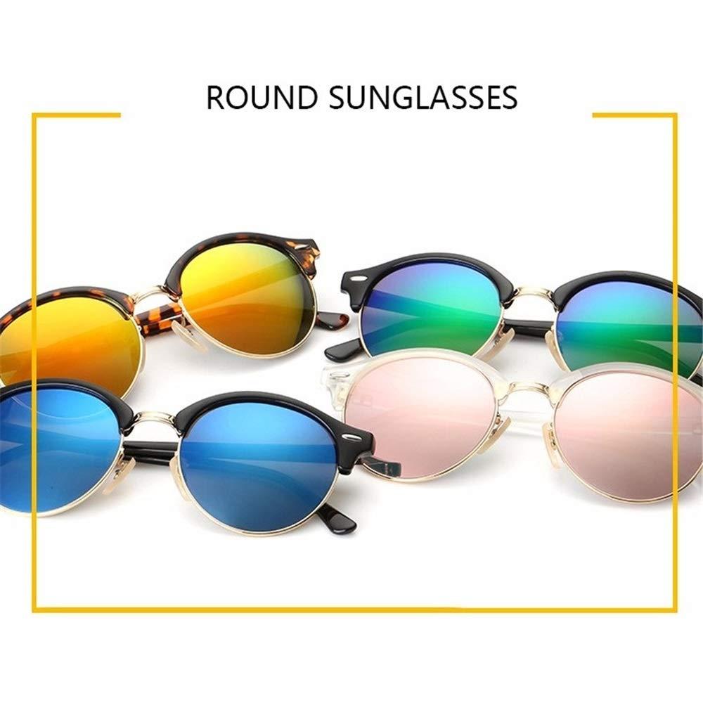 Wang-RX Classic Men Half Frame Club Gafas De Sol Redondas ...