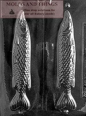 MEDIUM 3D FISH Chocolate Candy Mold With Copywrited Candy Making Instruction