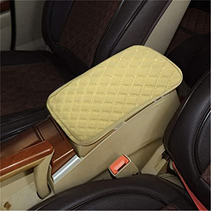 LKXHarleya Car Center Console Cover, Universal Car Armrest Cover, PU  Leather Auto Arm Rest Cushion Pads, Center Console Armrest Protector, Fit  for