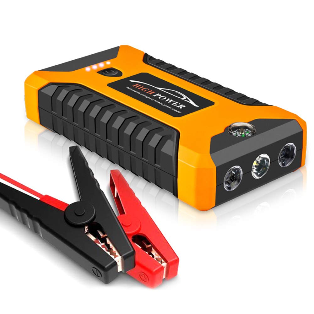600A 20000mAh Portable Car Jump Starter (up to All Gas Vehicle, 5.0L Petrol Vehicle Engine) Battery Booster and Phone Charger with Smart Charging Port 1 Pack by Yourshops