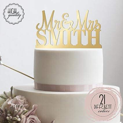 Mr mrs personalized wedding cake topper custom made wedding favor mr mrs personalized wedding cake topper custom made wedding favor customized last name topper for junglespirit Choice Image