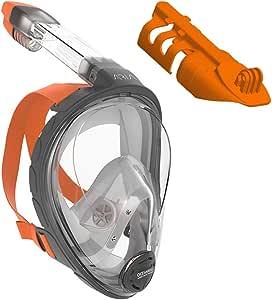 OCEAN REEF Full Face Snorkel Mask w/Camera Support, L