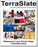 TerraSlate Paper 10 MIL 8.5'' x 11'' Waterproof Laser Printer/Copy Paper 25 Sheets