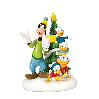 Department 56 Disney Village Christmas Carols In Front Of Tree Accessory Figurine