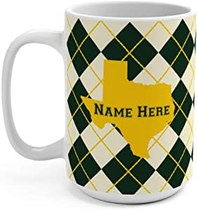 State Pride Series Waco Texas 15oz Ceramic Coffee Mug - Personalized Mugs Keep Coffee Warm for Moms Dads Office Presents and Gift