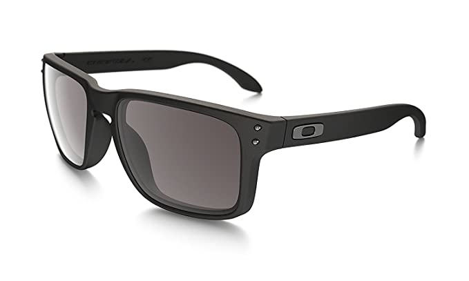 bfbedfaa85 Amazon.com  Oakley Holbrook Sunglasses 57MM Matte Black Frame Warm ...