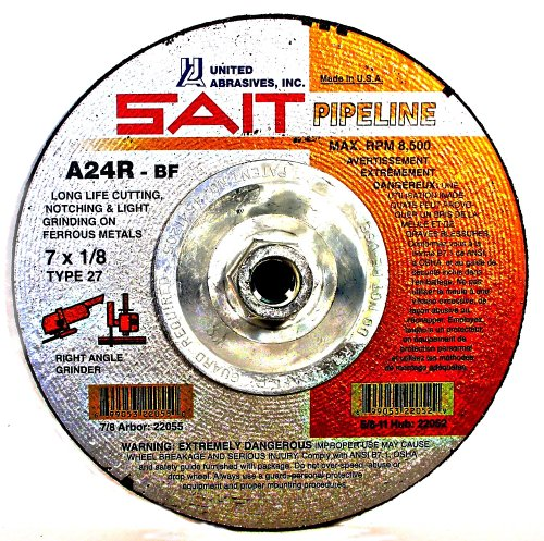 SAIT 22062 Type 27 9-Inch x 1/8-Inch x 5/8-11 Pipeline Long Life Specialty Grinding Wheels, 10-Pack