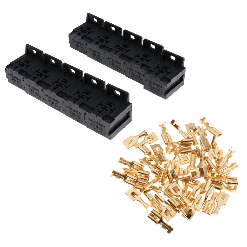 Homyl 10 Pcs Presa Supporto Relè 5 Poli 5 pin 12V Accessorio Auto Macchina