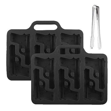 Himi Pistola de hielo molde – Silicona Handgun cubito de hielo bandeja perfecta para hacer a