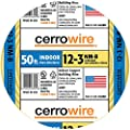 Cerrowire 147-1603BR 50-Feet 12/3 NM-B Solid with Ground Wire, Yellow