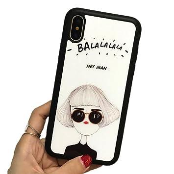 c31a10a9c5 iphoneXケーススマホカバーおしゃれシンプルモノトーン女の子サングラスgirlかわいい人気安いモノクロホワイト白