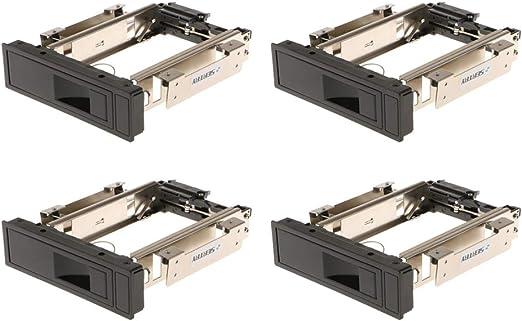 H HILABEE 4点セット 3.5インチSATA HDD ハードディスク モバイルラック トレイ不要 ホットスワップサポート ステンレス