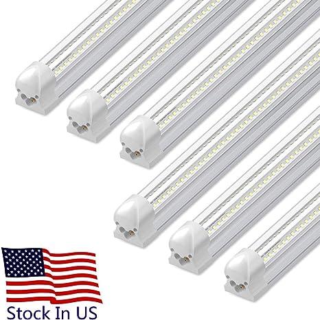 4ft Led Shop Light >> 4ft Led Shop Light 28w 3000lm 6500k T8 V Shape Integrated Tube Light Fixture Hight Output Brighter White Led Tube Light For Garage Warehouse