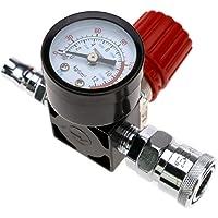 Drukregelaar met luchtcompressor en controleventiel 6 mm 240 V 12 bar