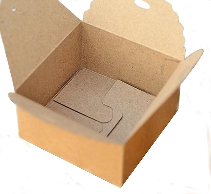 12pcs Kraft Marrón Cuadrada Caja De Cajas De Regalo De Papel De La Boda Del Partido De Bricolaje Artesanal: Amazon.es: Ropa y accesorios