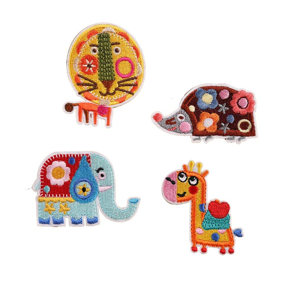 12 parches infantiles, diseño de animales, para planchar o coser ...