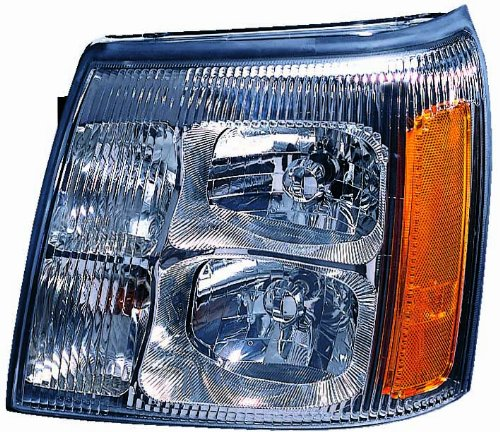 Depo 332-11A7L-ASH Cadillac Escalade Driver Side Replacement Headlight Assembly (Replacement Radiator Escalade Cadillac)