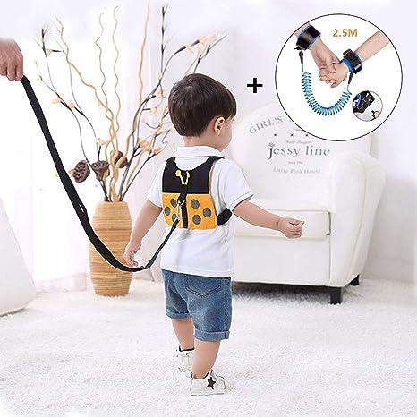 Babymeo, paquete de 2 arneses anti perdidos, correa para el cinturón de seguridad y correa de seguridad anti-pérdida para la muñeca con asistente de ...