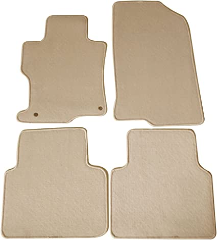 Leather Front Door Panels Replace Cover for Honda Accord 2008-12 Sedan Beige Tan