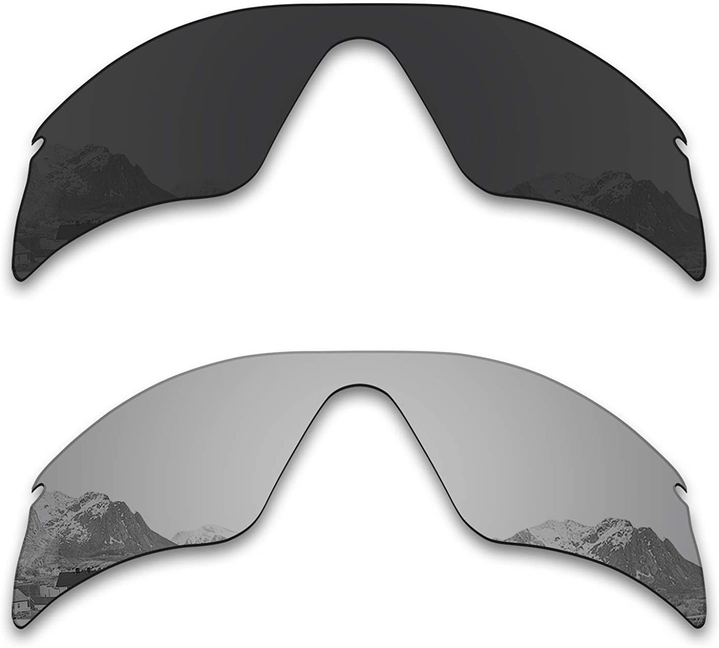 Puzzley Mirror Polarized Replacement Lenses for Oakley Radar Range Sunglasses - Rich Options