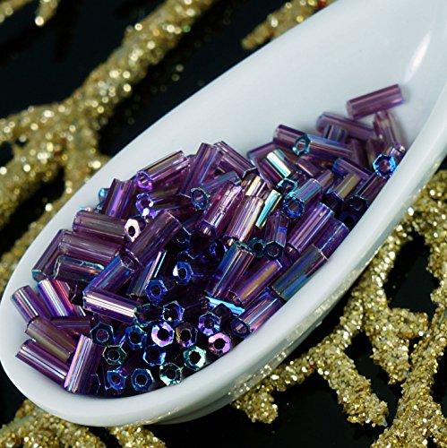 20g Twisted Bugle Beads PRECIOSA 20mm Cut And Seed