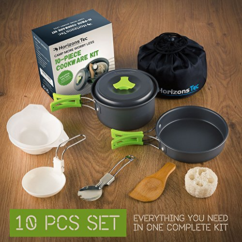 Horizons-Tec-Mess-Kit-Camping-Gear-Cookware-equipment-Lightweight-Collapsible-Anodized-Aluminum-Pots-Pans-Backpacking-Spork-Bowls-Foldable-Spoon-Wooden-Spatula-Bonus-15-Recipes-Ebook