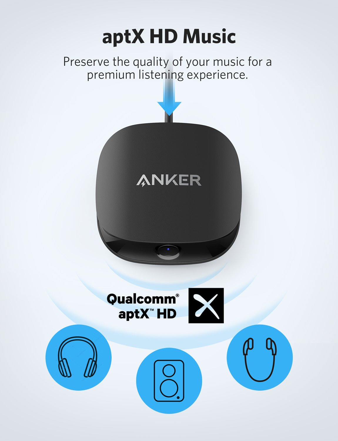 Anker Soundsync A3341 Bluetooth 2-in-1 Transmitter and Receiver, with Bluetooth 5, HD Audio with Lag-Free Synchronization, and AUX/RCA/Optical Connection for TV and Home Stereo System by Anker (Image #4)