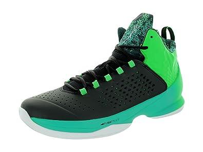 857b7a37054634 Jordan Nike Men s Melo M11 Black Black Lt Green Spark RTR Basketball Shoe