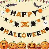 Cheap4uk Halloween Paper Garland Spider Banner Hanging Bunting Halloween Party Decoration Event Supplies