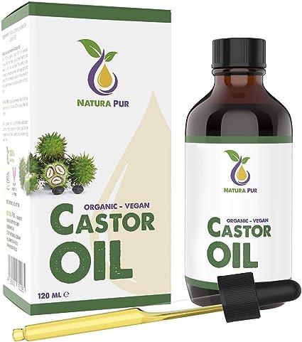 NATURA PUR Aceite de Ricino Orgánico 120 ml, Vegano - tamizado ...