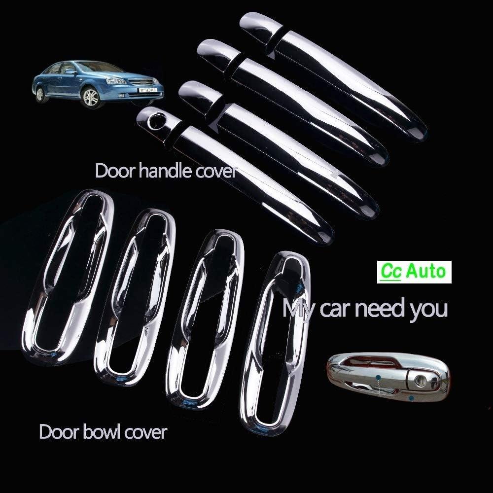 Couleur : One Hole All FJY-Manche Chrome Ext/érieur Poign/ées de couvertures for Chevrolet//Daewoo Lacetti Optra Nubira Suzuki Forenza Holden Viva Auto/étiquettes DQ-047