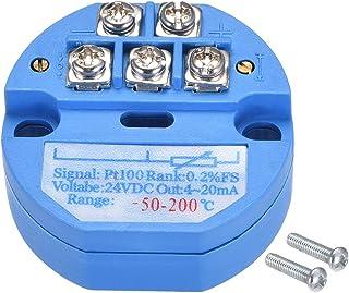 sourcing map Sensore temperatura PT100 Trasmettitore 24V DC 4-20mA 0℃ 150 ℃