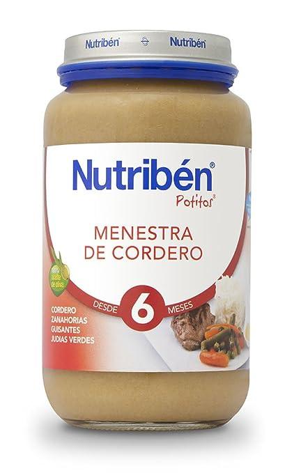 Nutriben Menestra de Cordero Potito 250g: Amazon.es: Alimentación y bebidas