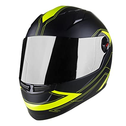 Voss 999 Bandito Full Face Gloss Apex Helmet with Iridium Face Shield - XXL - Gloss