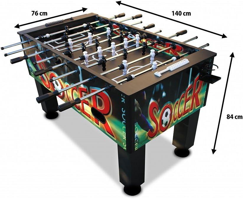Kicker - futbolín - Mesa de Fútbol - fútbol - Tschüttelikasten - torneo Kickertisch - TORNADO: Amazon.es: Juguetes y juegos
