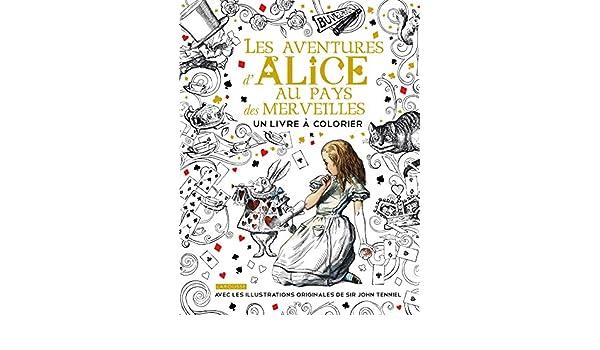Les Aventures D Alice Au Pays Des Merveilles Un Livre A Colorier
