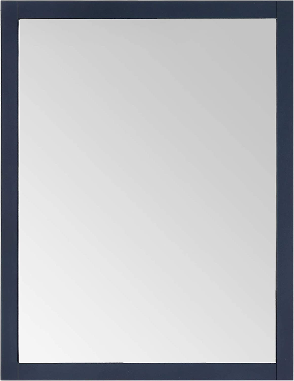Ove Decors Midnight Blue Maya 28x36 Wall Mount Contemporary Rectangle Mirror in Dove Grey finish