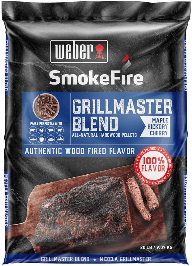 Weber 190001 Grillmaster Blend All-Natural Hardwood Pellets