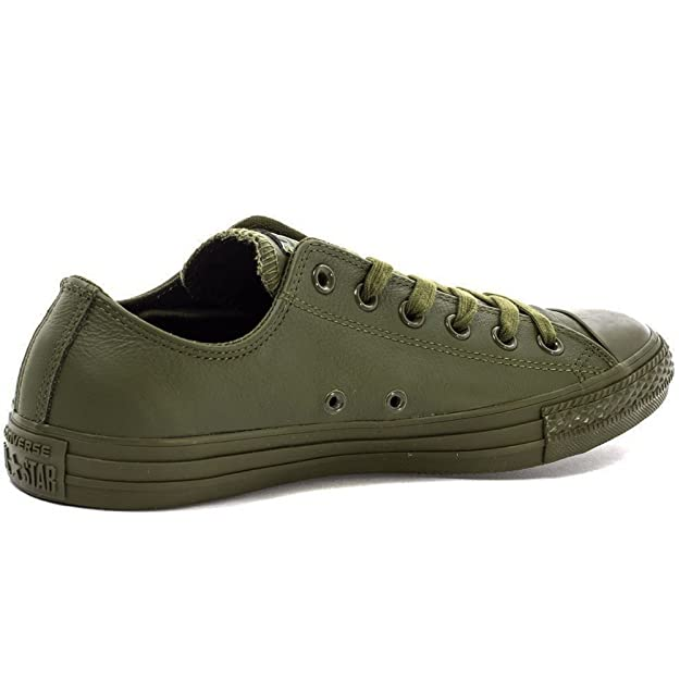 8ef7f246265d Converse Leather Trainers 151106C Olive Green  Amazon.co.uk  Shoes   Bags