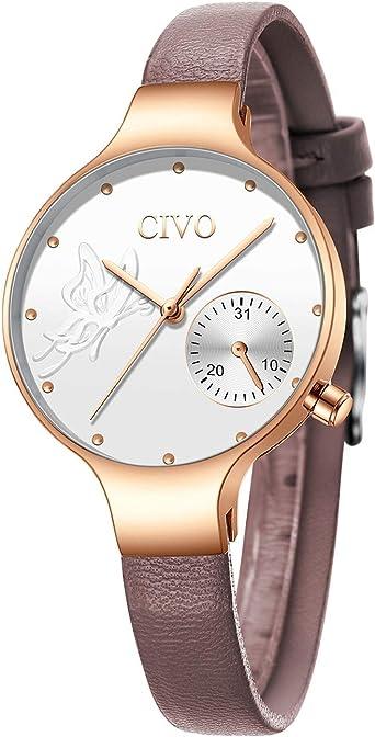 CIVO Relojes Mujeres Reloj de Pulsera Moda Diseñador ...