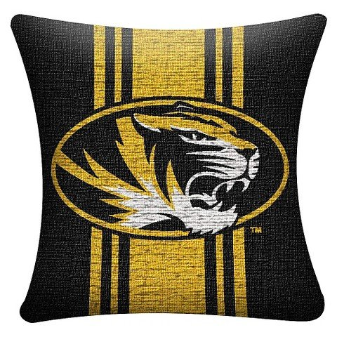 NCAA Missouri Tigers Woven Pillow - Multi-Colored