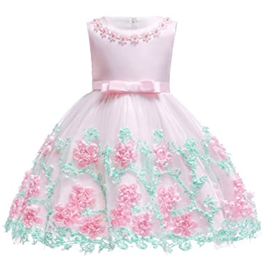5a454cbbc8f69 Infant Baby Girls Princess Birthday Baptism Bowknot Dress Kids Flower Lace  Tulle Halloween Christmas Carnival Party Wedding Bridesmaid Communion Dance  ...
