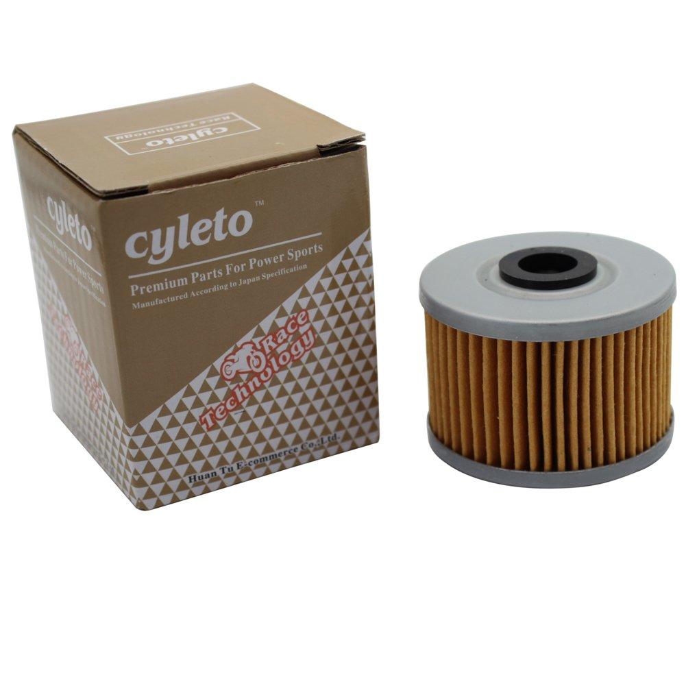 Cyleto Filtro de aceite para FMX650 FMX 650 2005 2006 2007//FX650 VIGOR 650 1999 2000 2001 2002//SLR650 SLR 650 1997 1998 1999 2000