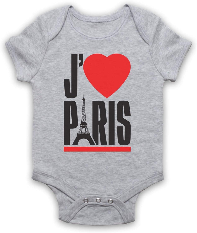 My Icon Unisex-Babys JAdore Paris I Love Slogan Baby Grow