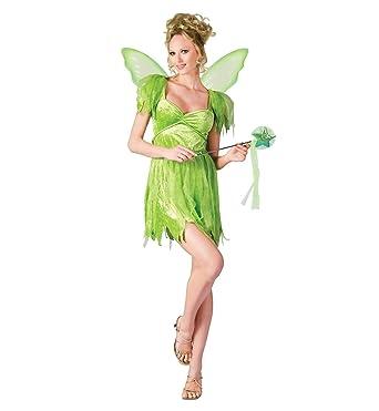 Amazon.com: Neverland traje de hadas – Adulto Disfraz, Verde ...