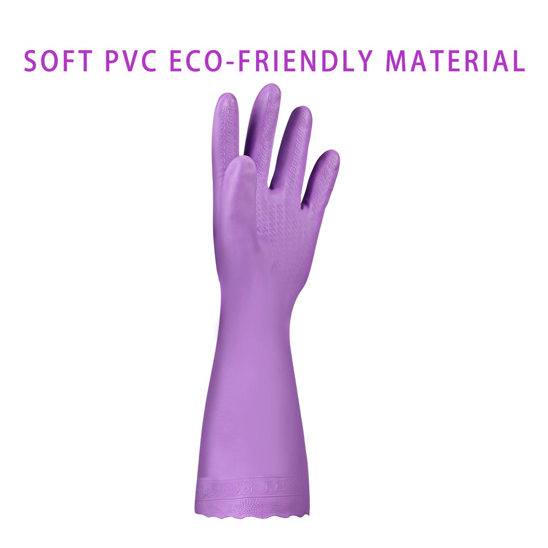 Amazon.com: Elgood Household Gloves,Latex Free Vinyl Cotton Lining ...
