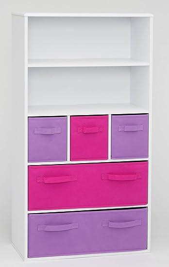 4D Concepts Girlu0027s Storage Bookcase, White
