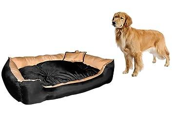 Top Shop Leopet Cama Perro para Perros con Relleno Suave y cojín 120 x 90 x
