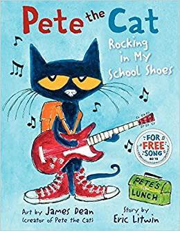 Free my first day of school coloring page i love this cover page - Pete The Cat Rocking In My School Shoes James Dean Eric