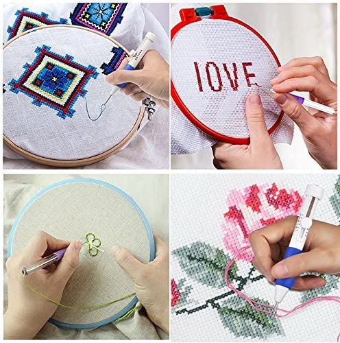 Fangfang Embroidery Punch Needle Kit Embroidery Pen Craft Tool for DIY Sewing Embroidery